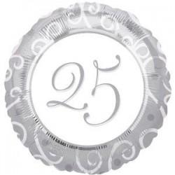 "GLOBO 25 ANIVERS.18""/45 CM."