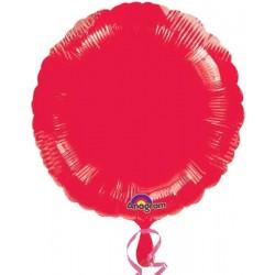 Globo Círculo Foil en Rojo...