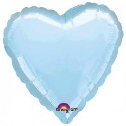 Globo Corazon Foil Azul...