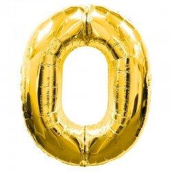 Globo Numero 0 Dorado 100 cm.