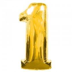 Globo Numero 1 Dorado 100 cm.