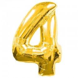 Globo Numero 4 Dorado 100 cm.