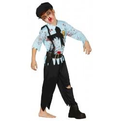 Disfraz de Policia Zombie niño