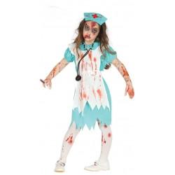 Disfraz Enfermera Zombie Niña