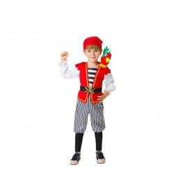 Disfraz de Pirata Caribeño niño 3-4 años