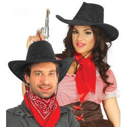 Sombrero Vaquero Negro Antelina Adulto