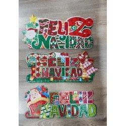 Cartel Feliz Navidad Surtido