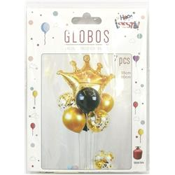 Conjunto Globos Corona 7...