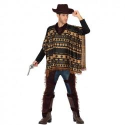 Disfraz Vaquero Poncho para adulto