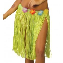 Falda Hawaiana Infantil Verde 45 cm.