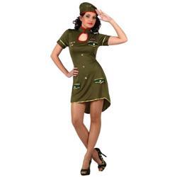 Disfraz de Chica Militar Alto Mando