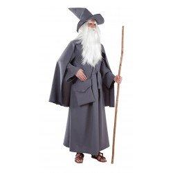 Disfraz de Mago Merlin Gris...