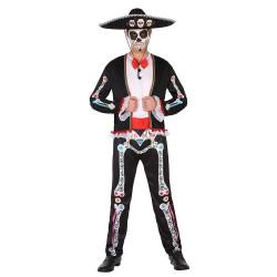 Disfraz de Esqueleto Mariachi para hombre