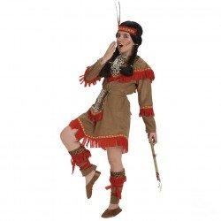 Disfraz de India Lujo para niña
