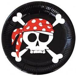 Platos de Piratas 23 cm. 8...
