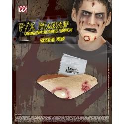 Herida Menton Zombie
