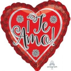 Globo Corazón Te Amo 45 cm.