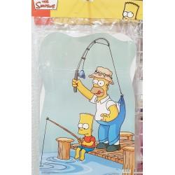 Piñata de Los Simpson Pescando 30x46 cm.