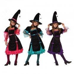 Disfraz de Bruja Colores Surtidos para niña