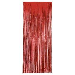 Cortina Metalizada Roja...