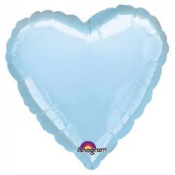 Globo Corazón Azul Perlado...