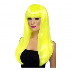 Peluca Amarilla Larga Fluor