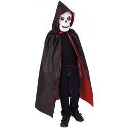 Disfraz de Calavera con Capa y Capucha para niño