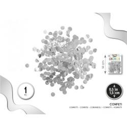 Confeti Plata 1.5 cm. en bolsa