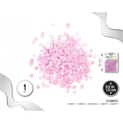 Confeti Rosa 1.5 cm. en Bolsa