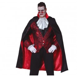 Capa Negra con Forro Rojo...