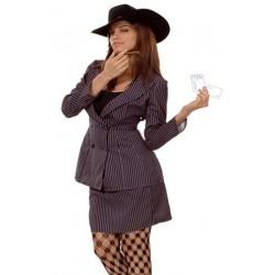 Disfraz de Ganster para mujer