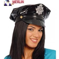GORRA POLICIA VINILO EXTRA