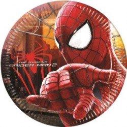 Platos Spiderman 8 un.