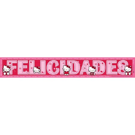 Banda Felicidades Hello Kitty