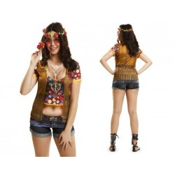 CAMISETA HIPPIE GIRL MANGA...