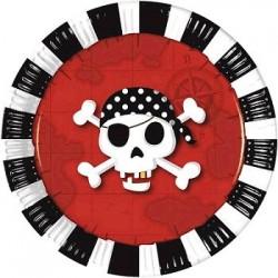 Platos de Pirata 8 un. de...