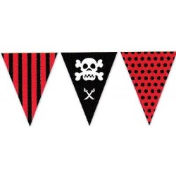 BANDERIN TRIANGULAR PIRATAS