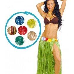 Falda Hawaiana Flores Verde...