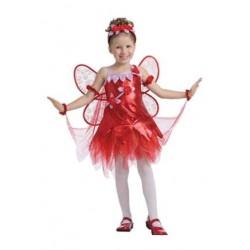 Disfraz de Hada Roja para niña