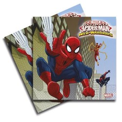 SERVILLETAS SPIDERMAN 20 UNID.