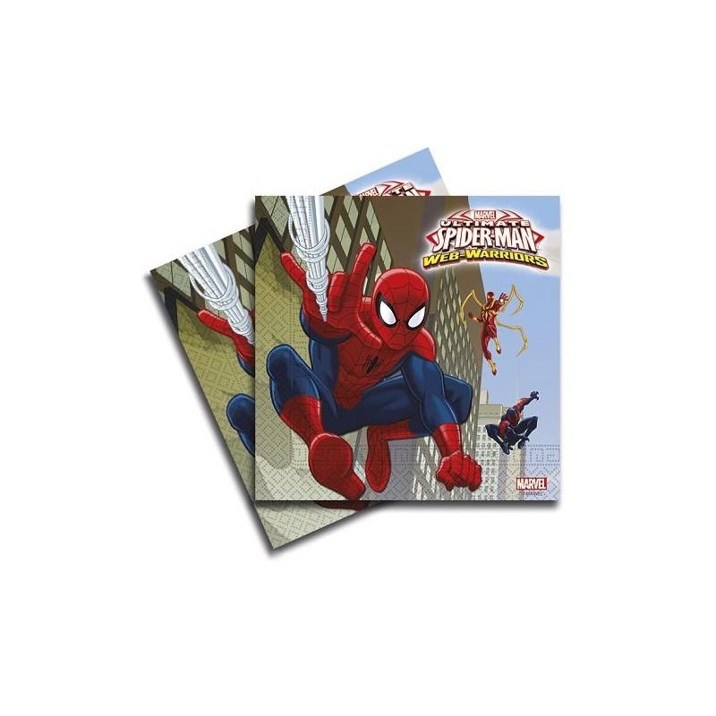 Servilletas de Spiderman 20 un.