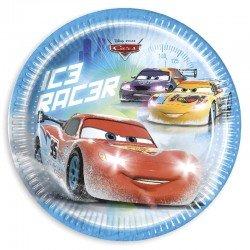 PLATOS CARS ICE 23 CM.8 UNID.