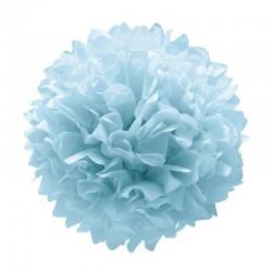 Pompon Azul Colgante