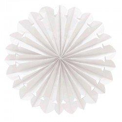 Pompon blanco Colgante