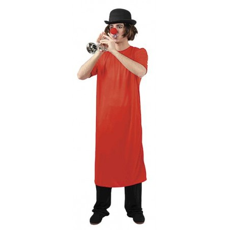 Camison Rojo Largo de Payaso