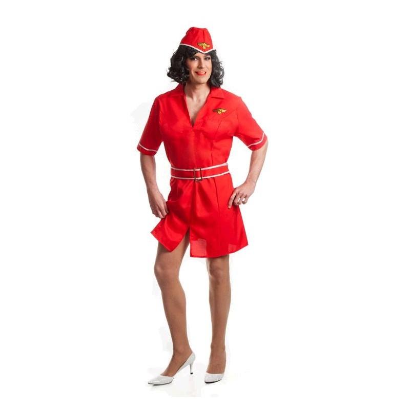 Disfraz de Azafata para Hombre