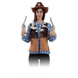 Chaleco Vaquero Mujer