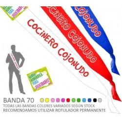 Banda Cocinero Cojonudo 70 mm.