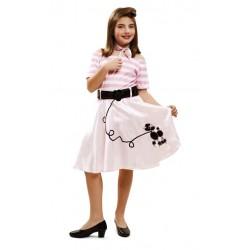 Disfraz de Pink Lady niña...